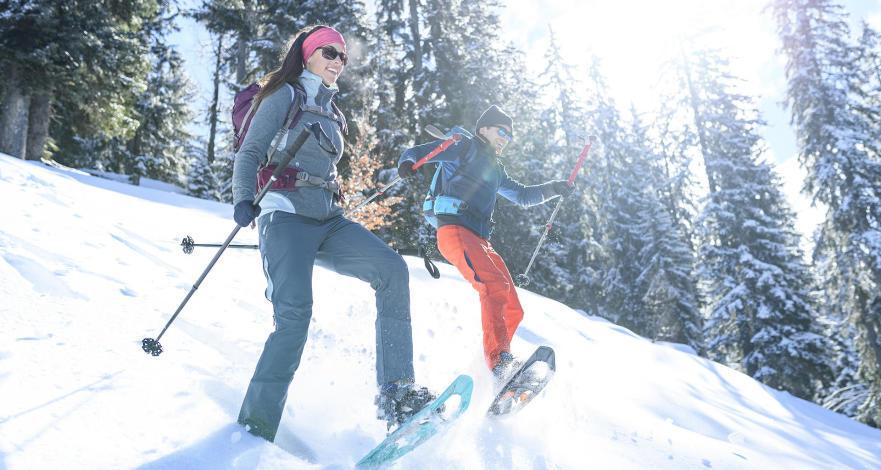 6 astuces utiliser raquettes descente - La Neige arrive, les vacances aussi !!